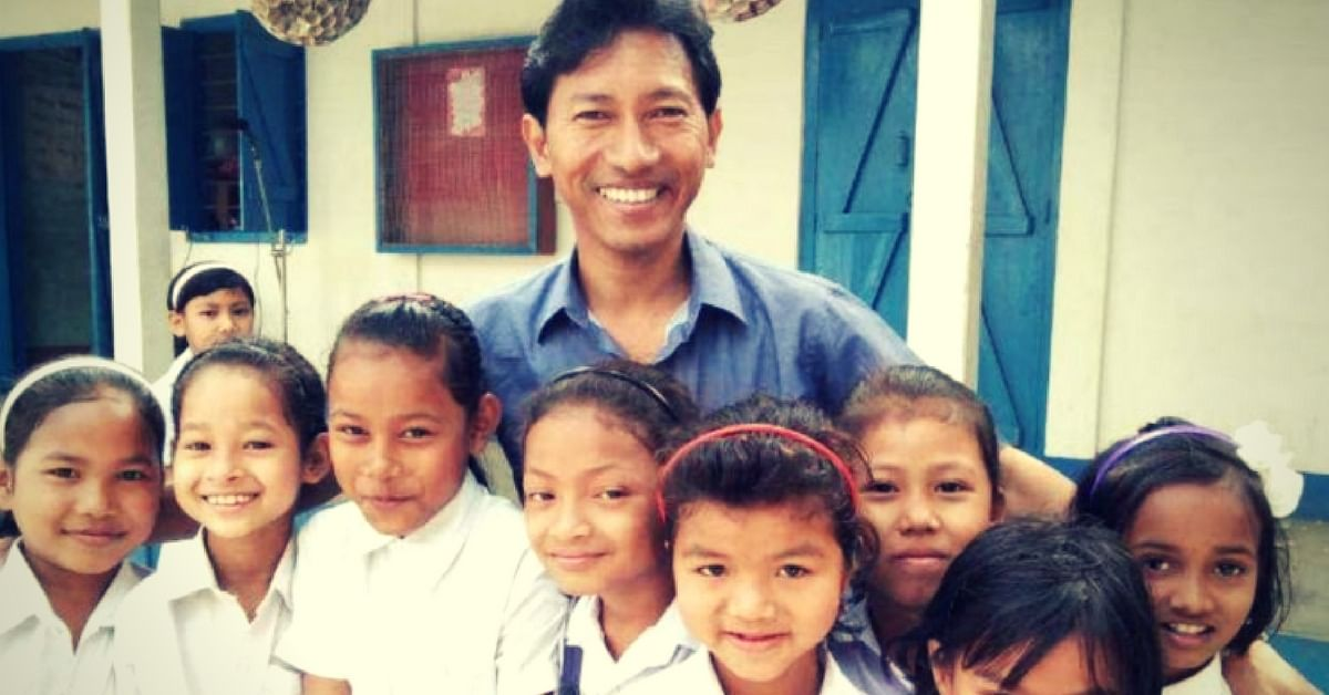 This Assamese Man Had Rs 800 & A Cowshed for Classroom. Today, He Teaches 512 Poor Kids!
