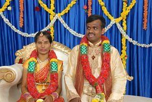 visually-impaired couple wedding bengaluru