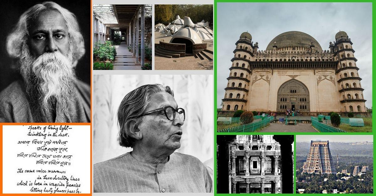 Rabindranath Tagore, Balkrishna Doshi. and the ancient Monuments of India