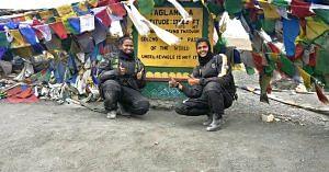 Amrutha and Shubra, made an epic journey, from Kanyakumari to Leh. Image Courtesy: The Long Highway.