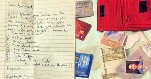 Delhi Metro wallet lost