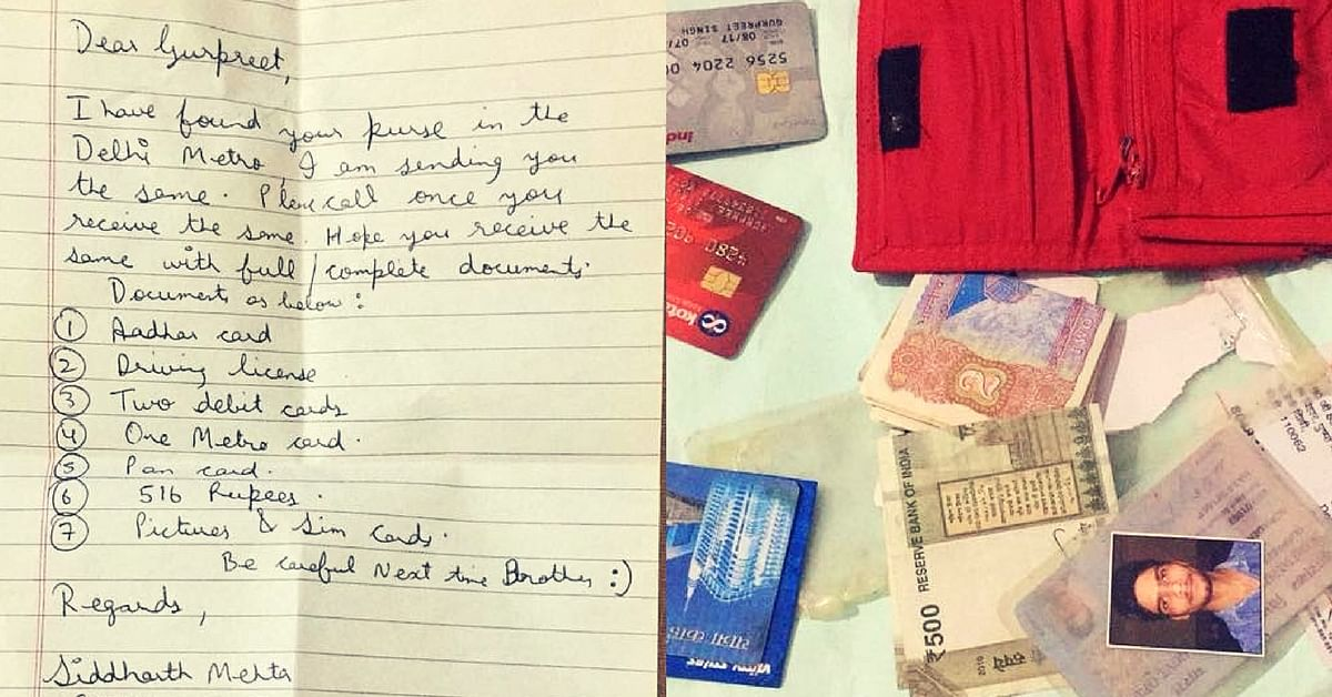 24-Year-Old Loses Wallet on Delhi Metro, Gets It Back In Mail 11 Days Later!