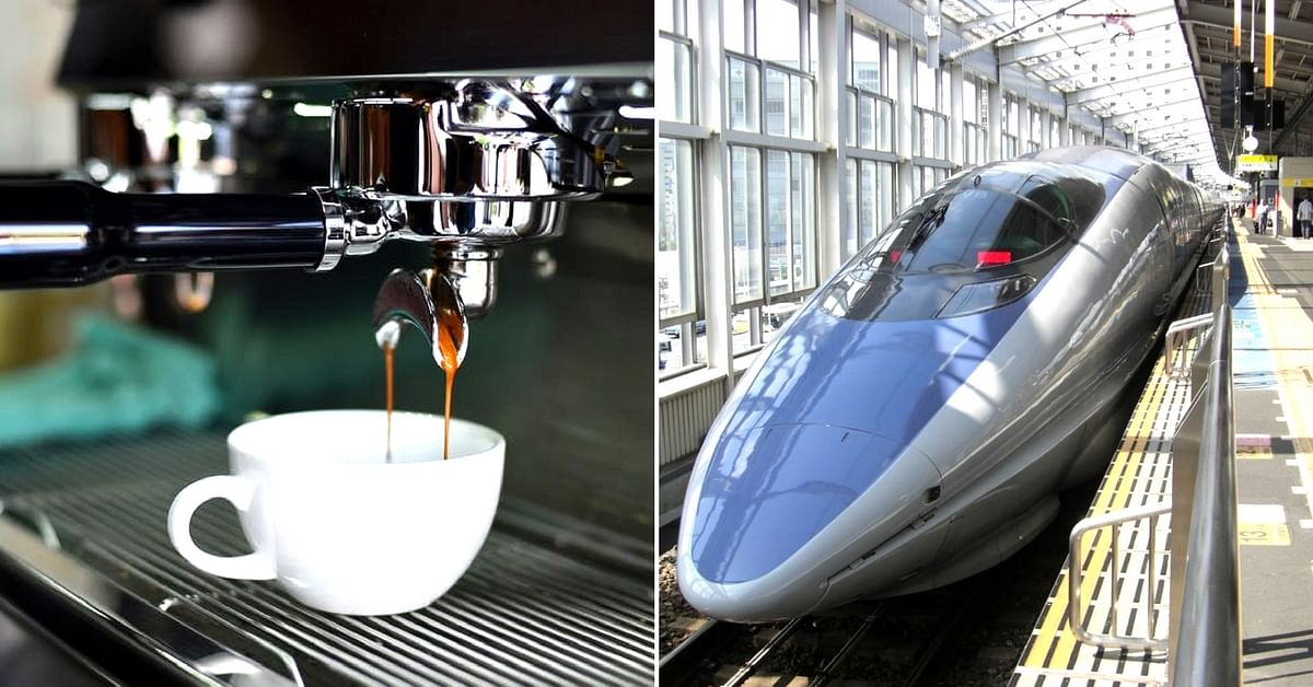 Enjoy a cup of your favourite brew, on the bullet train. Representative image only. Image Courtesy: Pexels.
