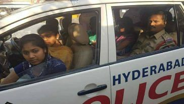 Hyderabad cop exam centre school girls