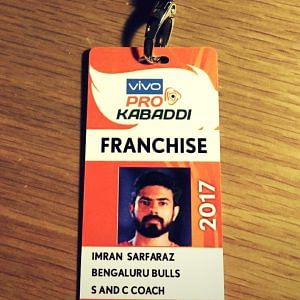 Imran worked with the Bengaluru Bulls in 2017. Image Courtesy: Instagram
