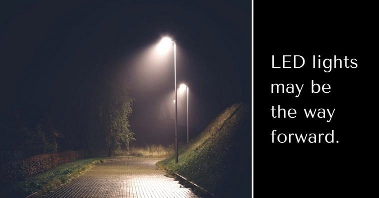LED Street lights have many advantages over their other generic counterparts. Representative image only. Image Courtesy: Wikimedia Commons.