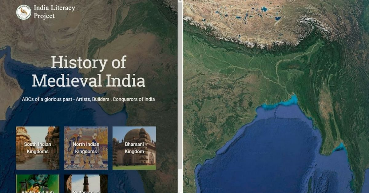 Learn history in an interactive way, thanks to Google, and the India Literacy Project.Image Courtesy: Google Earth.