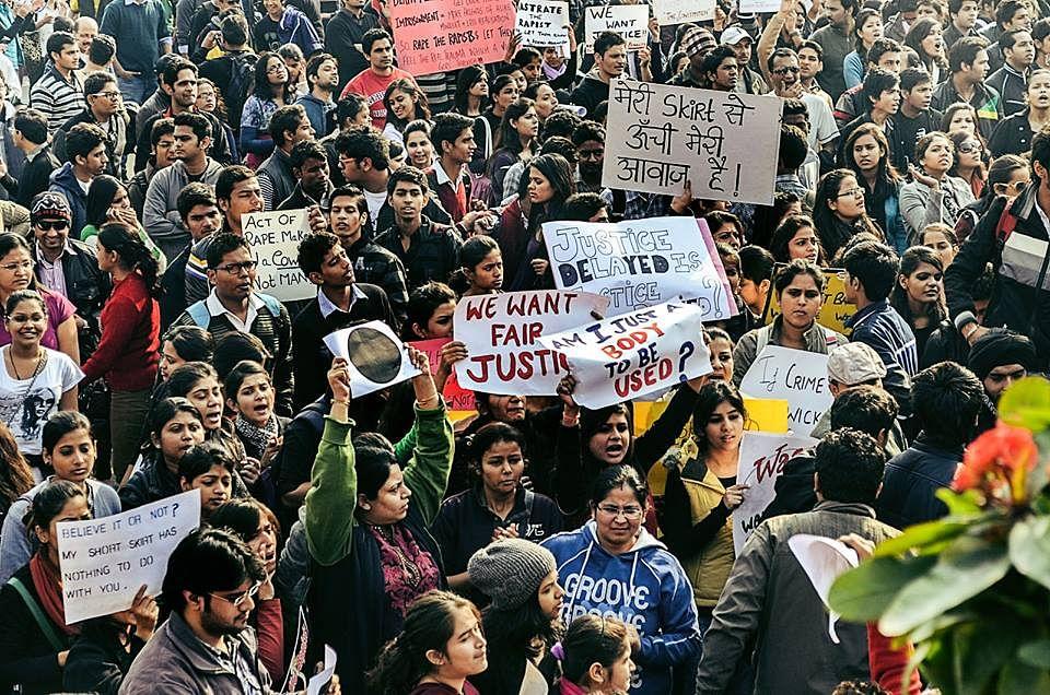 Nirbhaya protest in new Delhi 2012. Tarabai's writings spoke of gender violence long before it went mainstream. (Source: Facebook)