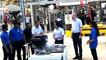 Sachin delves into automobile engineering, at the BMW plant in Chennai.Image Courtesy. Twitter