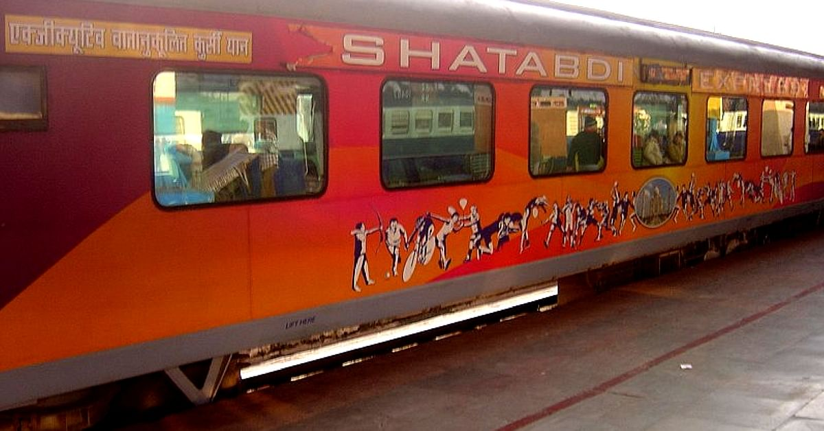 The Shatabdi Express, is a benchmark of timing and efficiency. Now, the fares for a ticket on it, might fall. Representative image only. Image Courtesy: Wikimedia Commons.