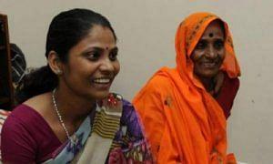Bhanwari Devi (right) with her daughter Rameshwari, in Mangalore.