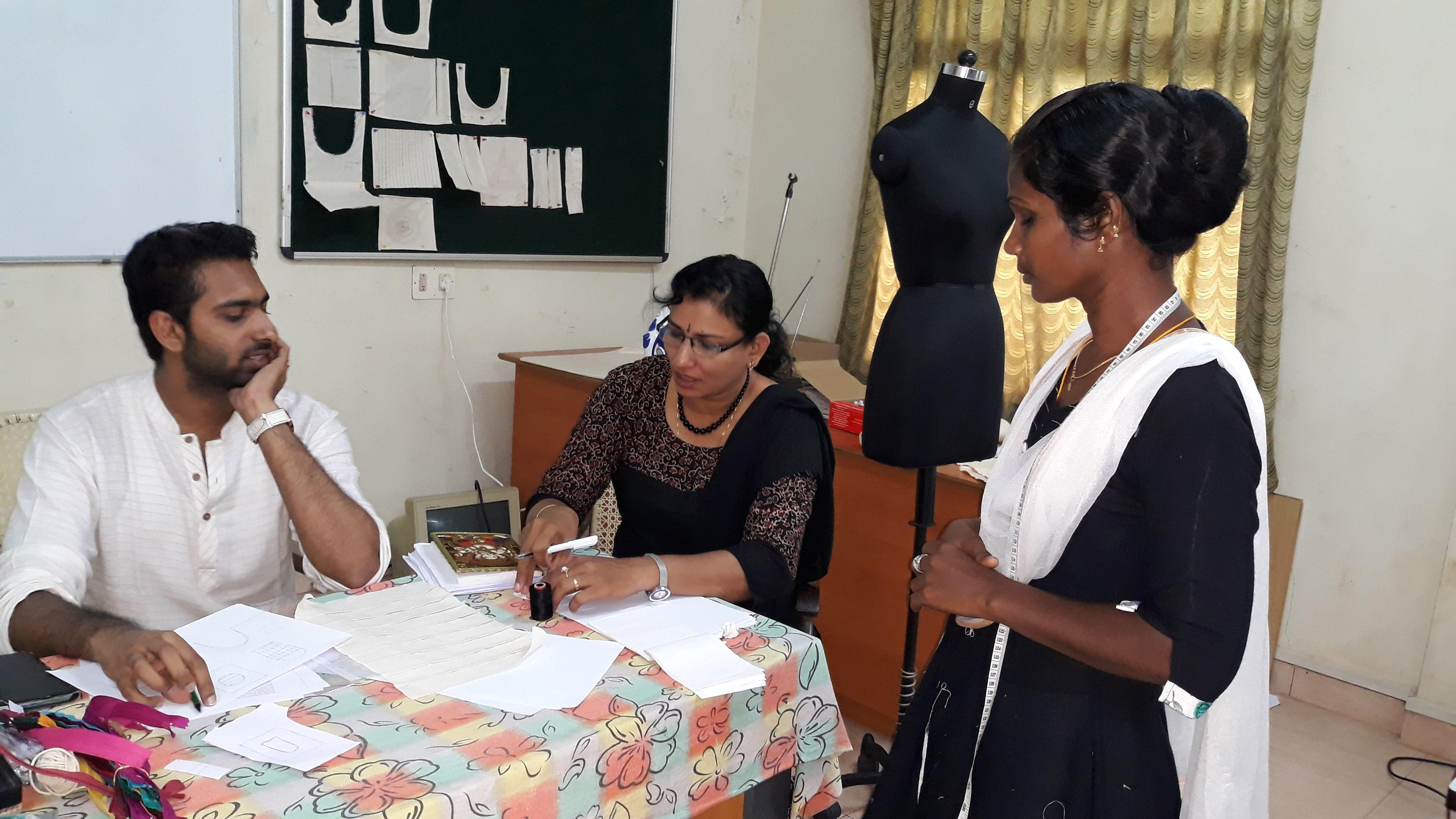 Undergoing training with a professional designer. (Source: Usha International)