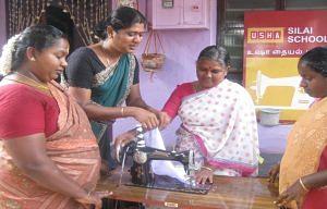 At a Usha Silai School centre in Kavundampalayam village, Coimbatore. (Source: Usha Initiatives)