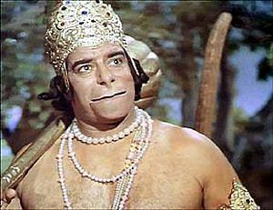 In his role as Hanuman. (Source: Facebook)