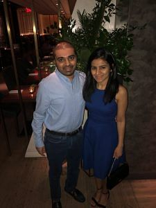 Standing by each other: Aashim and Reema on a recent dinner date.