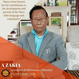 Mara writer A Zakia was awarded the Padma Shri. (Source: Padma Awards/ GoI)