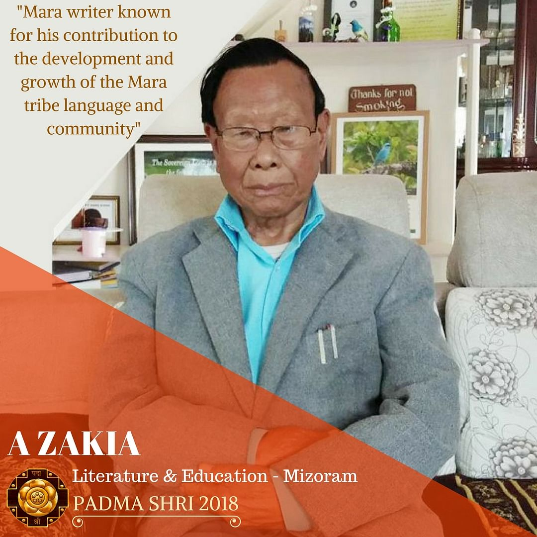 Mara writer A Zakia was awarded the Padma Shri. (Source: Padma Awards/ GoI)
