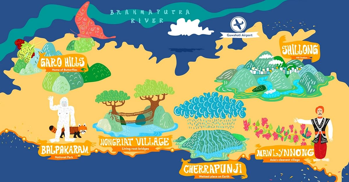 These 7 Illustrated Maps Beautifully Showcase Northeast's Vibrant Culture