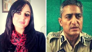 Lawyer Deepika Thusoo Singh and a Senior Superintendant oF Police Ramesh Kumar Jalla. (Source: Facebook)