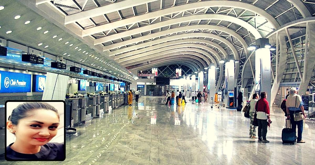 Air Hostess Risks Injury to Save Toddler Who Fell From Mother's Arm at Mumbai Airport!