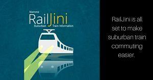 Now, all suburban and Metro details on the RailJini app for Bengaluru. Image Courtesy: RailJini App