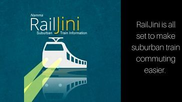 Now, all suburban and Metro details on the RailJini app for Bengaluru. Image Courtesy: RailJini App