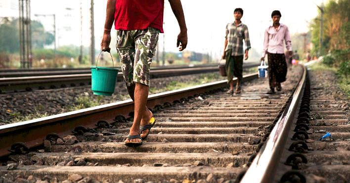 People encroaching on railway tracks is very distracting for locomotive drivers. Representative image only. Image Courtesy: Flickr