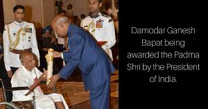 Receiving the Padma Shri from the President of India. Image Courtesy: Facebook.