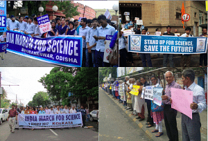 Protest for upholding science all over India