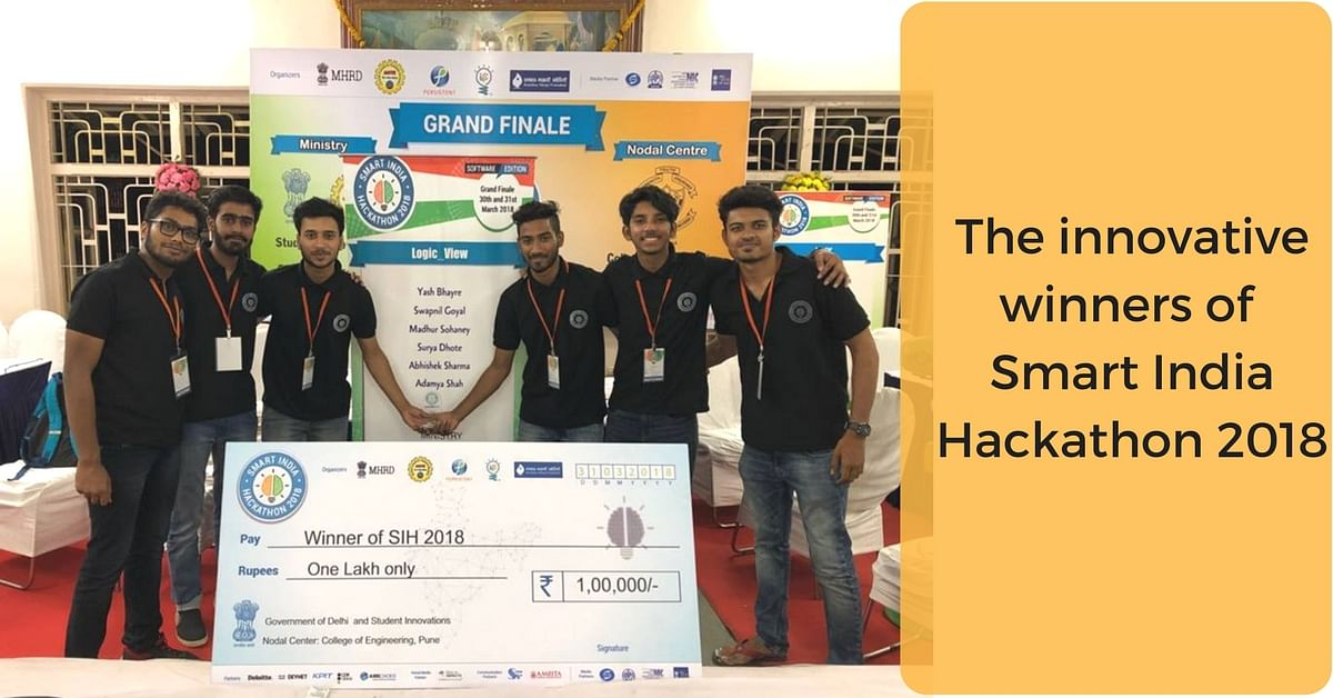 The Innovative winners of Smart India Hackathon 2018