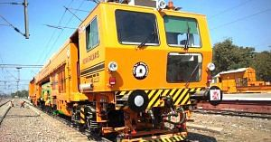 The Railways have introduced new tamping machines for better track maintenance. Image Courtesy: Facebook