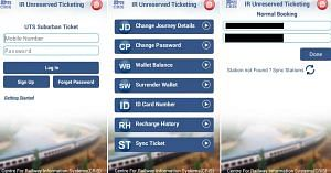 The app, by the Railways, has a lucid layout, and a number of options. Image Courtesy: UTC App.