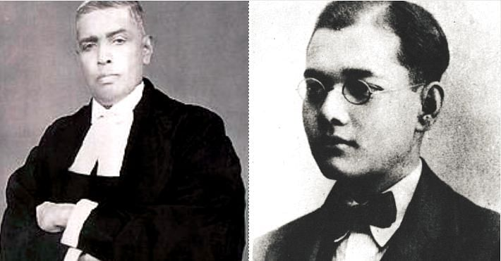 The renowned lawyer Radhabinod Pal (left), and Subhas Chandra Bose (right), would visit the library regularly. Image Credit: Wikimedia Commons