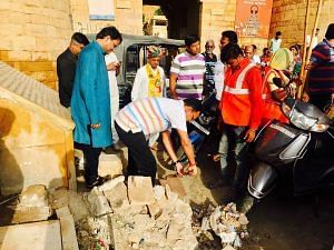 The district collector lending a hand at a sanitation marathon held in Jaisalmer. For representational purposes only.