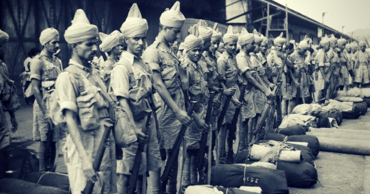 Soldiers of the British Indian Army in World War-II. For representational purposes only. (Source: Facebook)
