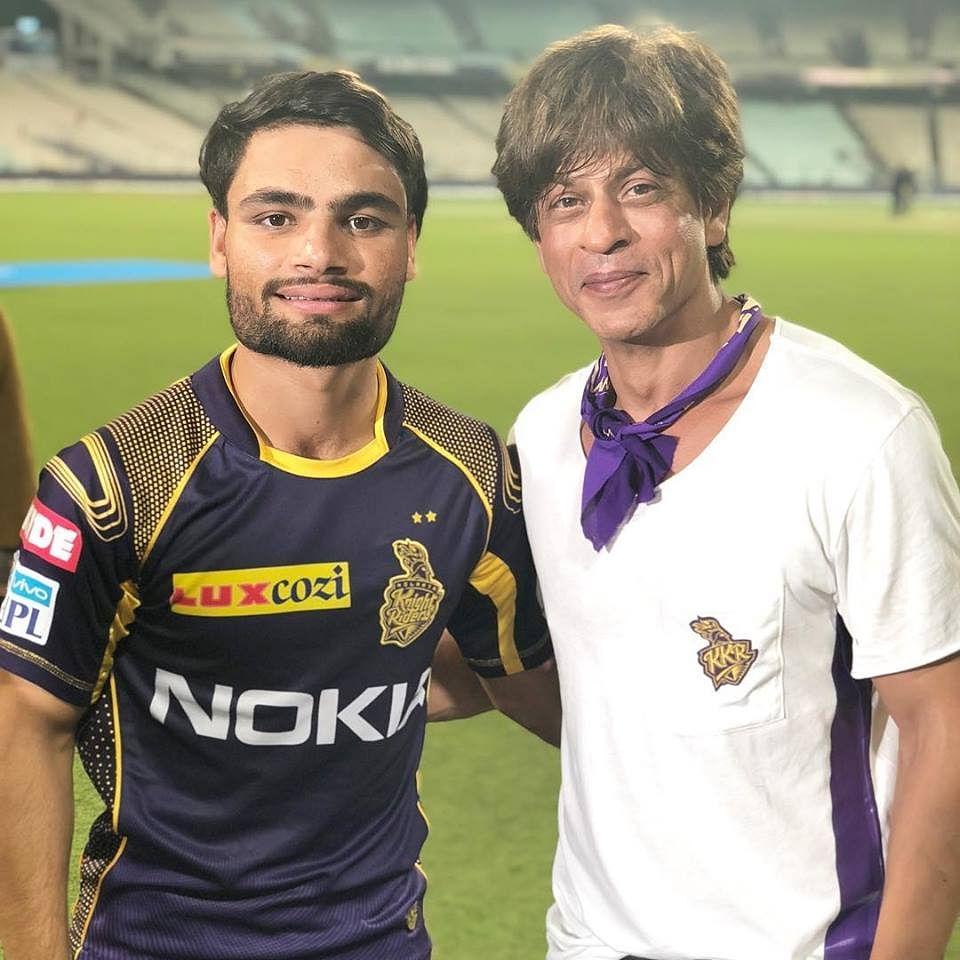 Rinku Singh with KKR principal owner Shah Rukh Khan. (Source: Facebook/Rinku Singh)