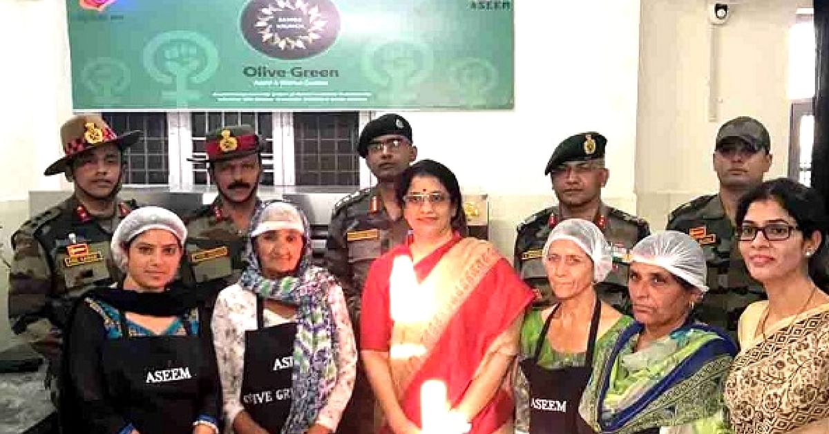 Women at Olive Green Cookies. (Source: Facebook/Kashmir Focus)