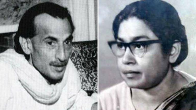 Acharya Kriplani and Sucheta Kriplani (Source: Facebook/India History)