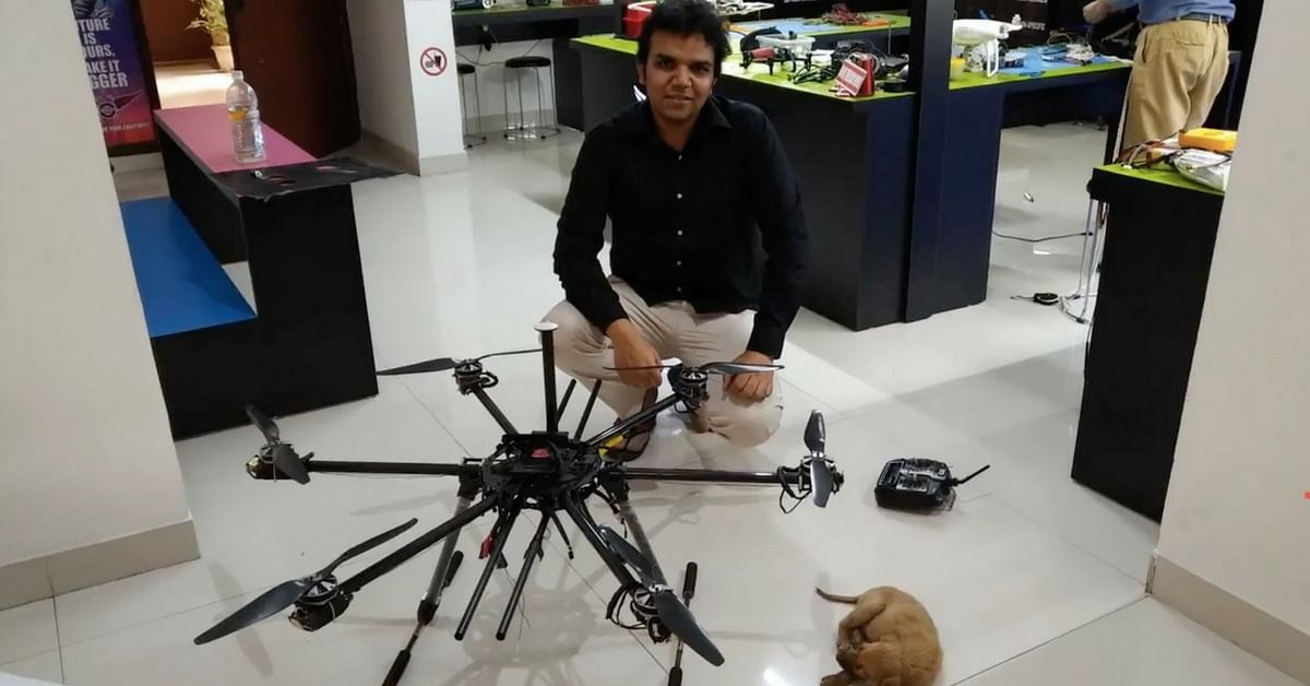 Lucknow Techie saves puppy from drain using AI Drone