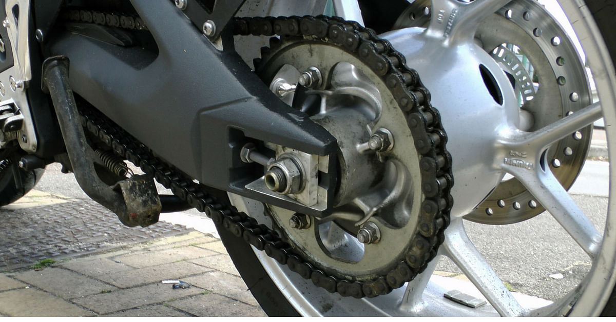 A clean, mud-free chain, lubed regularly, will be the best thing for your bike, during monsoons.Representative image only. Credit: Public Domain Pictures