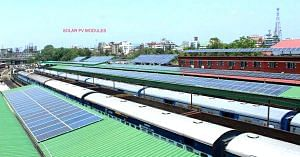 A great benchmark of solar power use, set by Guwahati's railway station. Image Credit: Facebook.