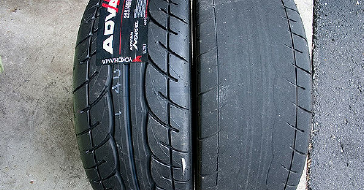 A tyre with tread, and one without. Bald tires are dangerous, and can cause accidents, especially during monsoons. Representative image only. Image Credit: Flickr