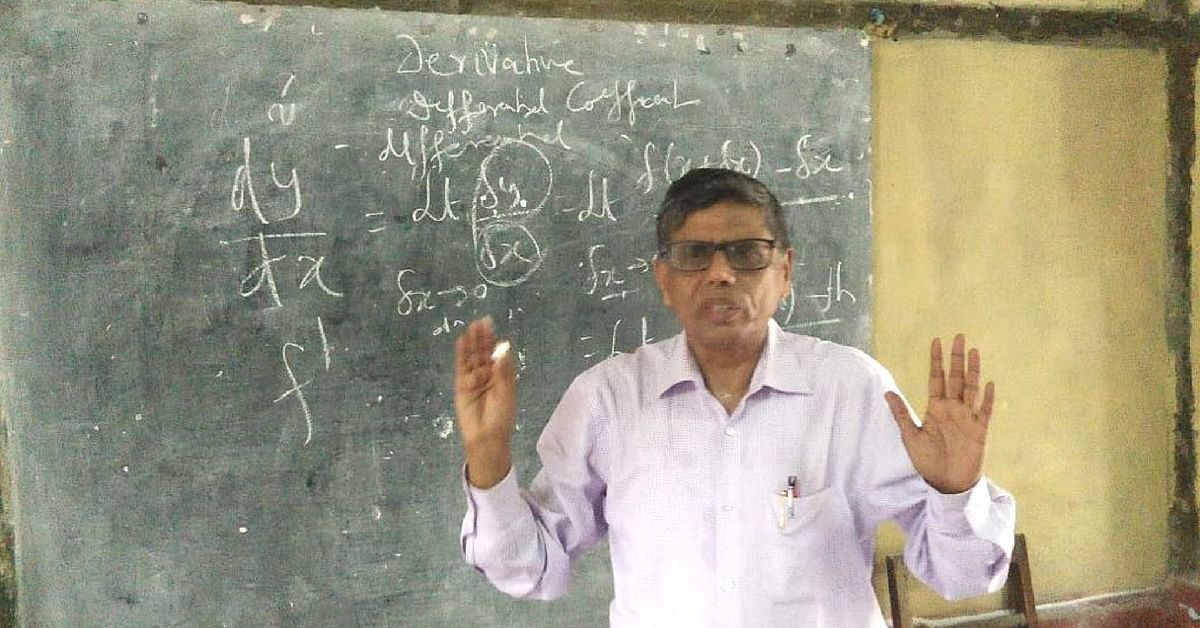 Former Assam DGP Mukesh Sahay is now a school teacher. (Source: Twitter/ Pranjit Saikia @SaikiaPranjit)