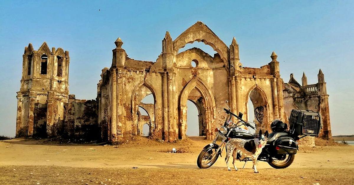 At the iconic Shettihalli Rosary Church, in Hassan, Karnataka. Image Courtesy: Gowtham.