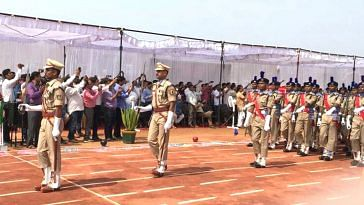 Passing out parade of the 241 Bastariya Battalion. (Source: Twitter/Rajnath Singh)