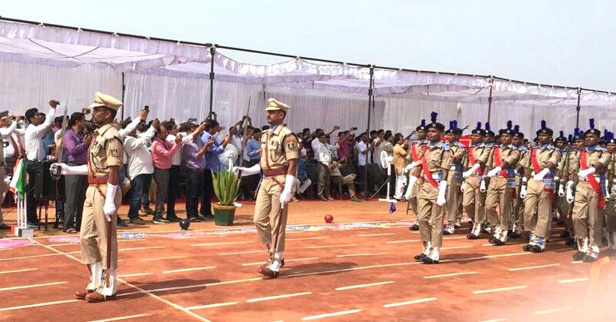 Passing out parade of the 241 Bastariya Battalion. (Source: Twitter/Rajnath Singh)