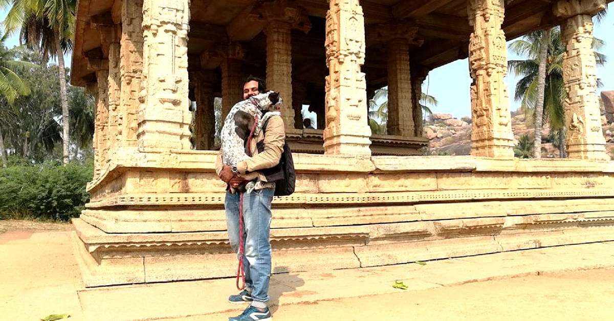 Chandramouli enjoyed the road trip as much as Gowtham. Image Courtesy: Gowtham.