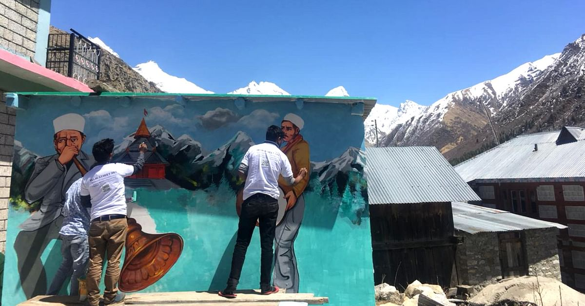 In Pics: Culture Immortalised on Walls of Last Inhabited Village Near India-China Border!