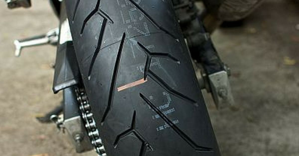 Ensure that your motorcycle tyres have good tread, especially during monsoons.Representative image only. Image Credit: Alex Roberts (Wiki Commons)
