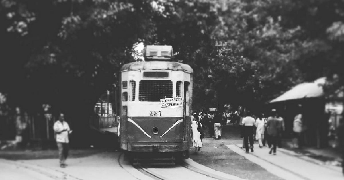 Every morning without fail, the first tram rolls out of the depot slightly before dawn, in Kolkata. Image Credit: Instagram
